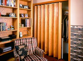 Accordion doors are easy to install and solve space and separation problems. Woodfoldu0027s accordion doors provide durability and functionality with style and ... & Accordion Doors | Minnesota | Bayer Built Woodworks