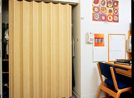 Accordion doors are easy to install and solve space and separation problems. Woodfoldu0027s accordion doors provide durability and functionality with style and ... & Accordion Doors | Minnesota | Bayer Built Woodworks pezcame.com