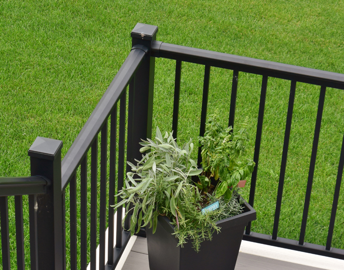 aluminum deck railing kits lowes exterior series ideas